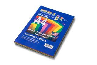 חב' מנילה צבעונית A4 בצבעים עזים (70 דף בחבילה)
